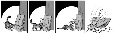 "March 23, 2004: ""Kitty Versus The Boxes"""