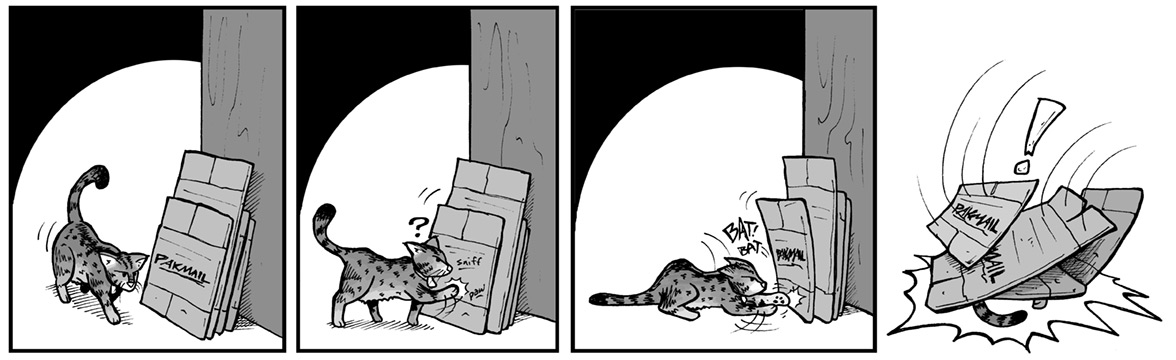 """March 23, 2004: """"Kitty Versus The Boxes"""""""