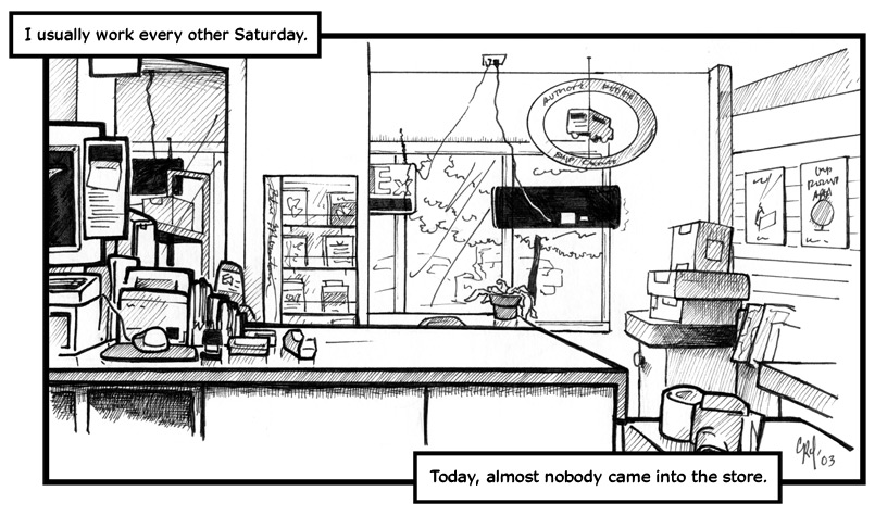 "March 22, 2003: ""Bored on Saturday"""