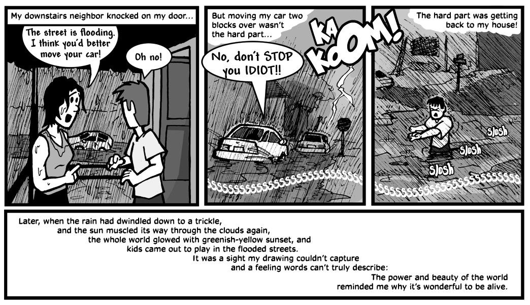 "August 5, 2003: ""My First Flood"""