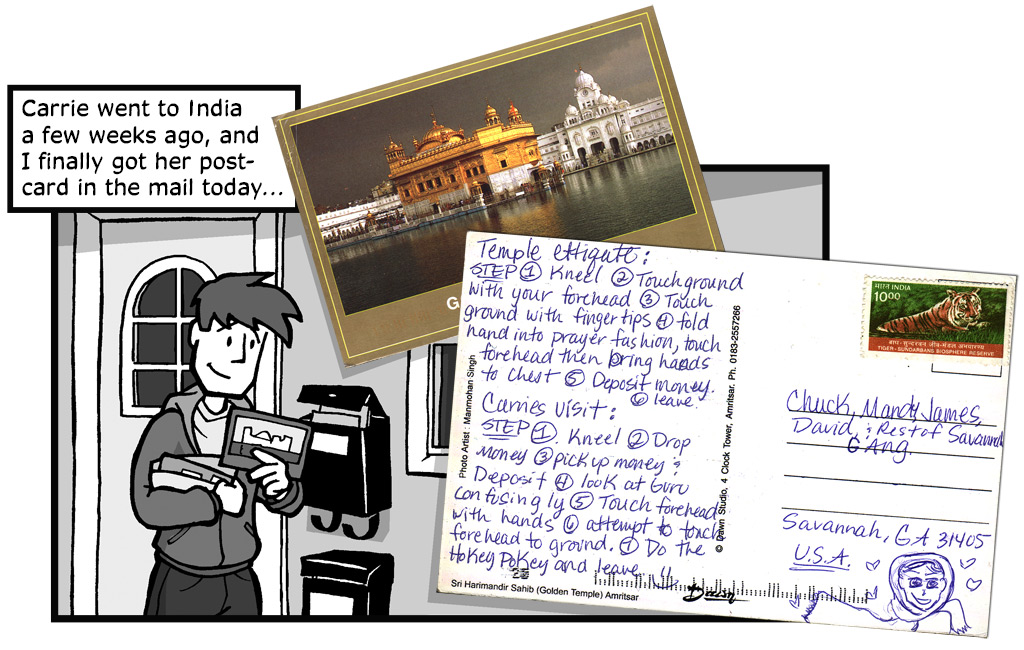 "January 27, 2004: ""Carrie's Postcard"""