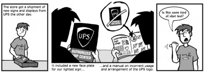 """March 5, 2004: """"UPS Signage"""""""