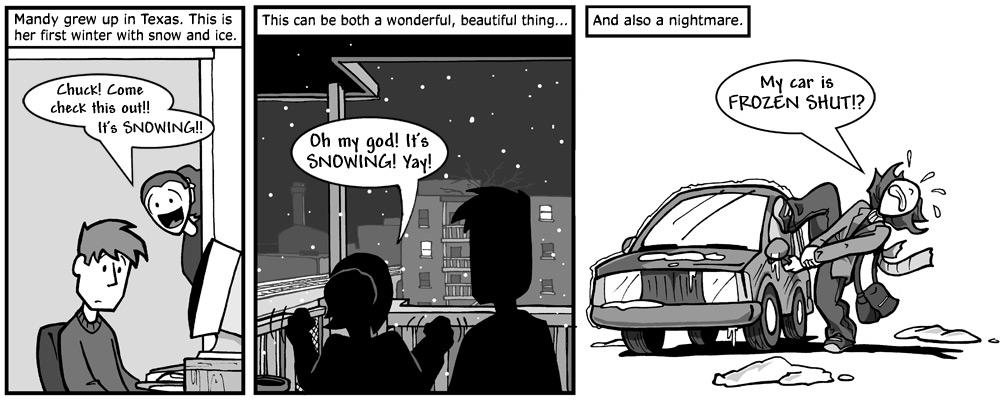 """December 14, 2004: """"Mandy's First Snow"""""""