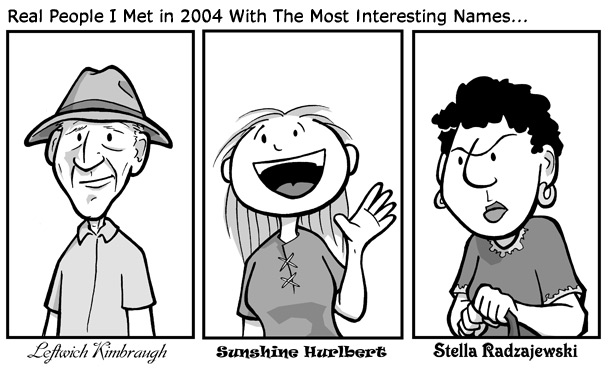 "December 30, 2004: ""Best Names"""